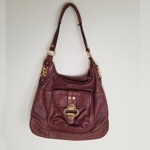 B Markowsky Brown Leather Shoulder Bag